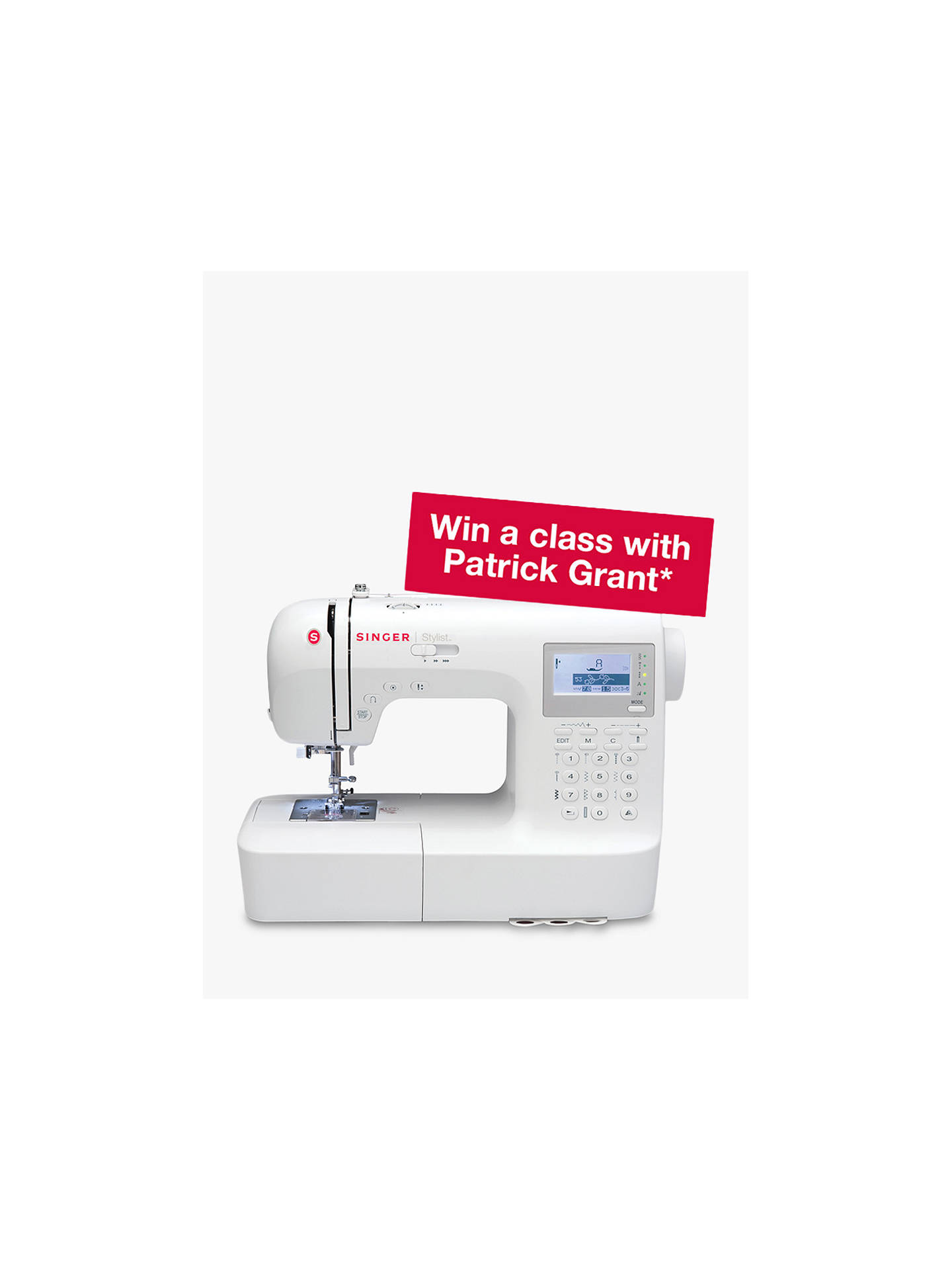 BuySinger Stylist 9100 Sewing Machine Online at johnlewis.com