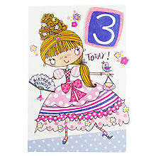 Buy Rachel Ellen Age 3 Princess Birthday Card Online at johnlewis.com