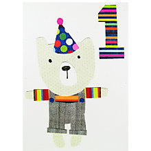 Buy Paper Salad Age 1 Bear Birthday Card Online at johnlewis.com
