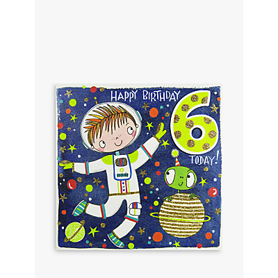 Image of Rachel Ellen Happy 6th Birthday Astronaut Birthday Card