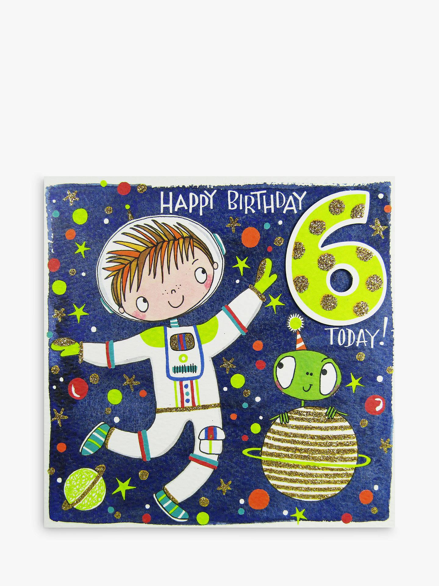 Buy Rachel Ellen Happy 6th Birthday Astronaut Card Online At Johnlewis