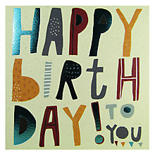 Buy Rachel Ellen Happy Birthday To You Card Online at johnlewis.com