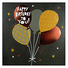 Buy Rachel Ellen Happy Birthday Balloon Card Online at johnlewis.com
