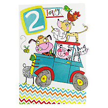 Buy Rachel Ellen Age 2 Tractor Birthday Card Online at johnlewis.com