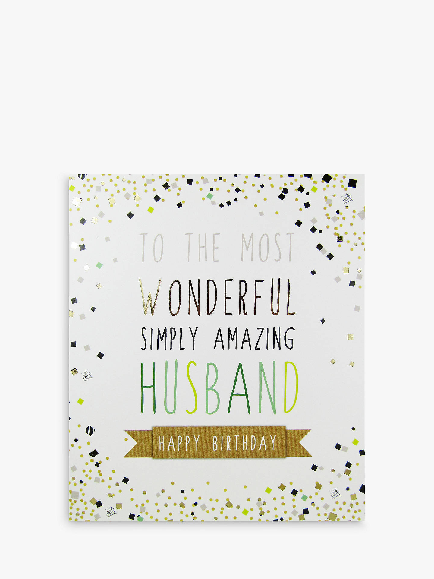 Buy Portfolio Amazing Husband Birthday Card Online At Johnlewis