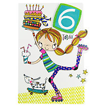Buy Rachel Ellen 6 Today Roller Blades Birthday Card Online at johnlewis.com