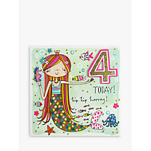 Buy Rachel Ellen 4 Today Mermaid Birthday Card Online at johnlewis.com