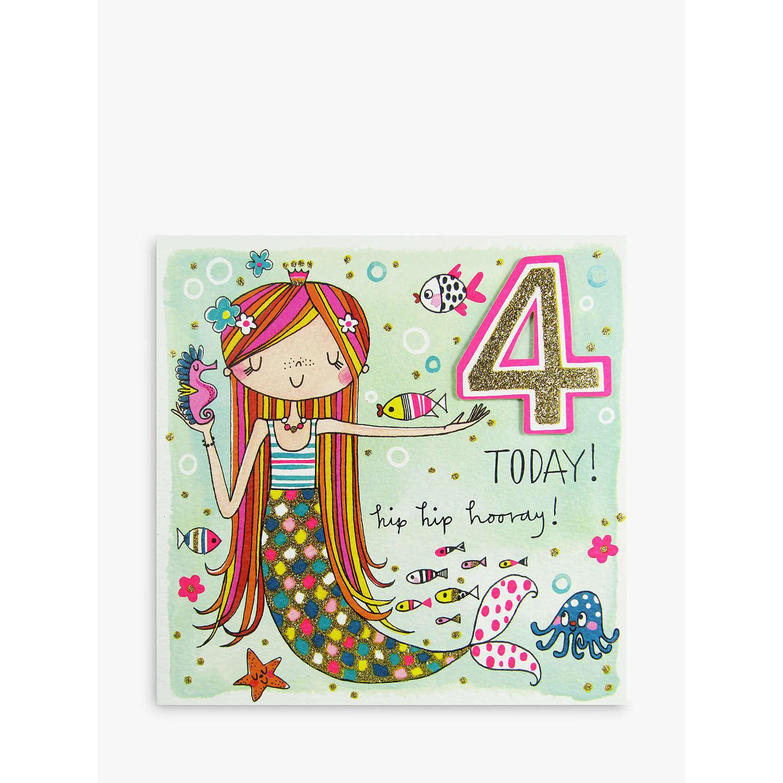 Rachel ellen 4 today mermaid birthday card at john lewis buyrachel ellen 4 today mermaid birthday card online at johnlewis stopboris Image collections
