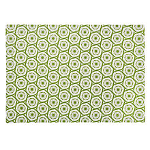 Buy John Lewis Halo Print Cotton Placemat, Green Online at johnlewis.com