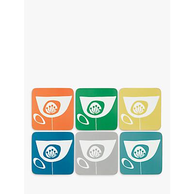John Lewis Scandi Seedheads Coasters, Set of 6, Multi