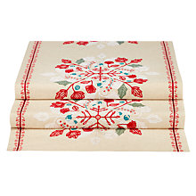 Buy John Lewis Folklore Embroidered Table Runner, Neutral/Multi Online at johnlewis.com