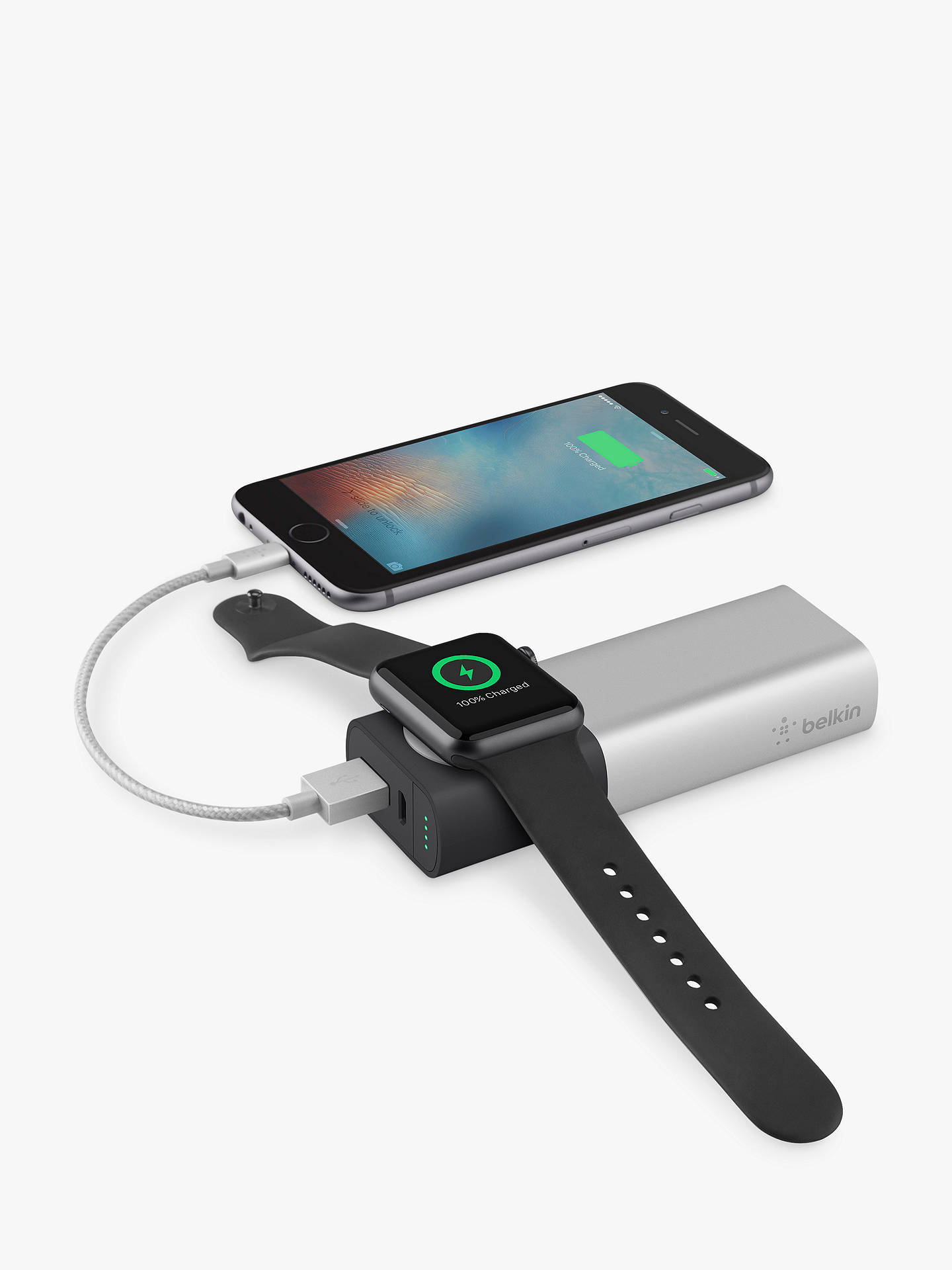 Buy Belkin Valet Charger Power Pack 6700 mAh for Apple Watch and iPhone Online at johnlewis.com