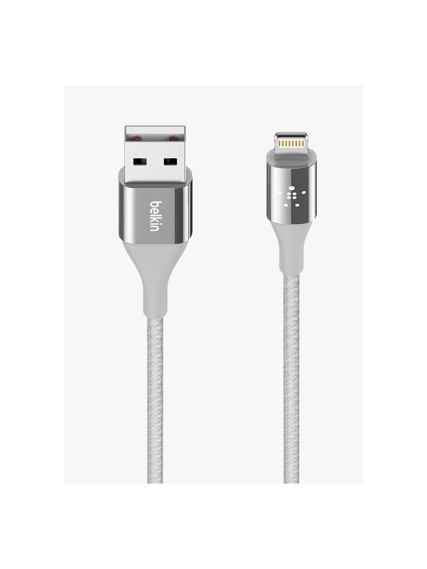 BuyBelkin Mixit DuraTek Lightning to USB Cable, 1.2m, Silver Online at johnlewis.com