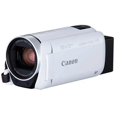 Canon LEGRIA HF R806 Camcorder, HD 1080p, 3.28MP, 57x Advanced Zoom, Optical Image Stabiliser, 3 Vari-angle Touch Screen LCD Display