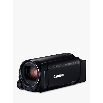 Canon LEGRIA HF R86 Camcorder, HD 1080p, 3.28MP, 57x Advanced Zoom, Optical Image Stabiliser, Wi-Fi, NFC, 3 Vari-angle Touch Screen LCD Display with 16GB Internal Memory
