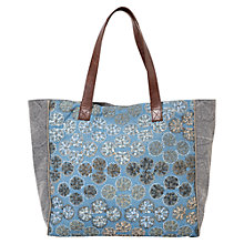 Buy East Hand Embroidered Bag, Blue Online at johnlewis.com