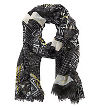 Buy Betty Barclay Long Lattice Floral Print Scarf, Black/Multi Online at johnlewis.com