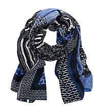 Buy Betty Barclay Multi-Print Viscose Scarf, Blue Online at johnlewis.com