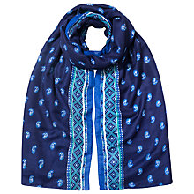 Buy East Nyla Print Scarf, Navy Online at johnlewis.com