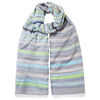 East Stripe Cotton Scarf, Green/Multi