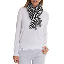 Buy Betty Barclay Long Striped Floral Print Scarf, Black/White Online at johnlewis.com