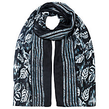 Buy East Simone Print Scarf, Black Online at johnlewis.com