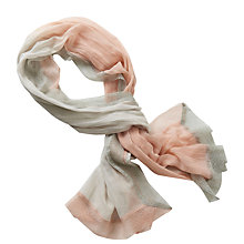 Buy Betty Barclay Long Scarf With Mesh Edges, Rose/Grey Online at johnlewis.com