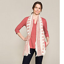 Buy East Booti Print Open Weave Scarf Online at johnlewis.com