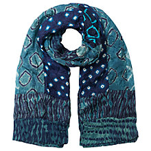 Buy East Patchwork Bandhini Scarf, Indigo Online at johnlewis.com