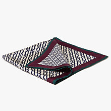 Buy Mulberry Monogram Square Silk Scarf, Beige/Multi Online at johnlewis.com