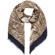Buy Mulberry Woodland Scarf, Navy Online at johnlewis.com