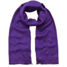 Buy Mulberry Logo Tree Scarf, Purple Online at johnlewis.com