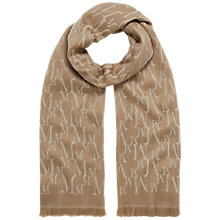 Buy Mulberry Monogram Scarf, Camel Online at johnlewis.com