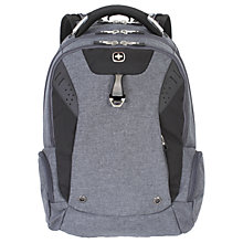 "Buy Wenger 15"" ScanSmart Laptop Backpack, Grey Online at johnlewis.com"