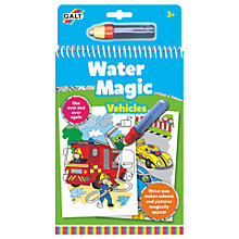 Buy Galt Water Magic Vehicles Colouring Online at johnlewis.com