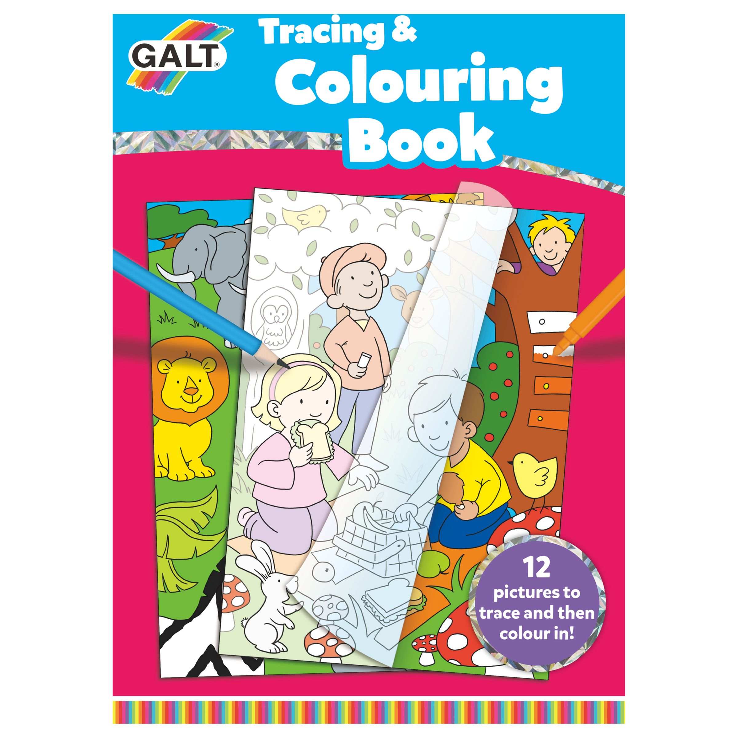Galt Galt Tracing & Colouring Book