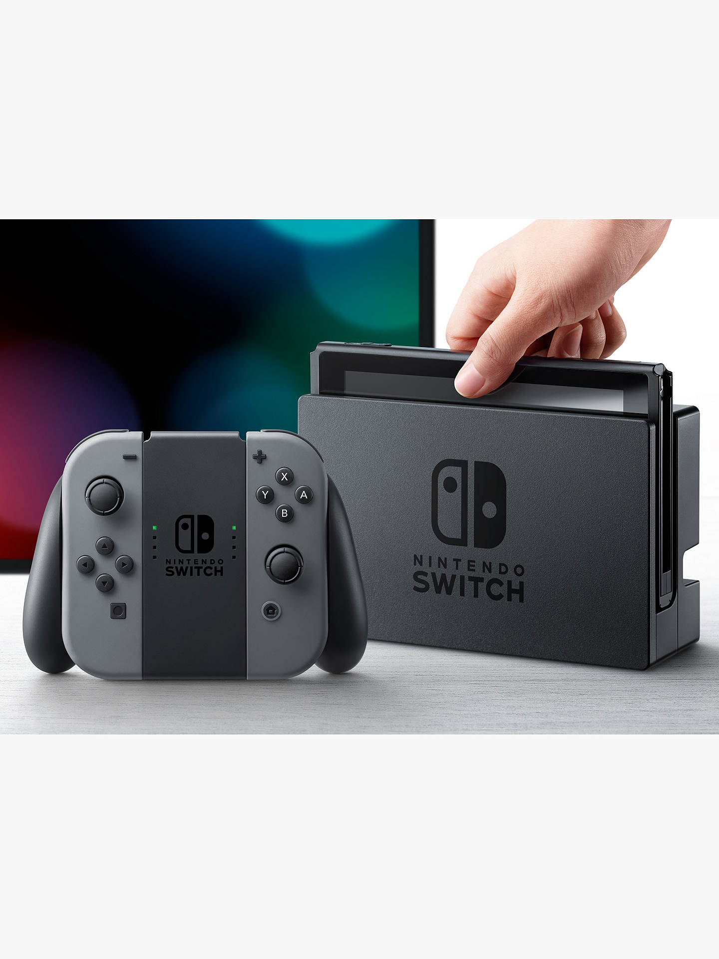 Nintendo Switch Console With Joy Con At John Lewis Partners 4 Way Joystick Buynintendo Grey Online