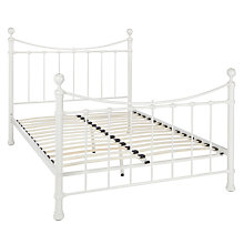 Buy John Lewis Special Jayne Bed Frame, King Size, White Online at johnlewis.com