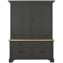 "Buy Neptune Henley 5ft Media Dresser Unit for TVs up to 55"", Smoke Online at johnlewis.com"