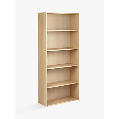 John Lewis & Partners The Basics Didi Tall Wide Bookcase