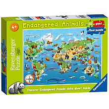 Buy Ravensburger Endangered Animals 60 Piece Jigsaw Puzzle Online at johnlewis.com