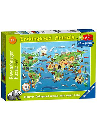Ravensburger Endangered Animals Jigsaw Puzzle, 60 Pieces