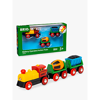 Image of Brio Battery Operated Train And Wagons