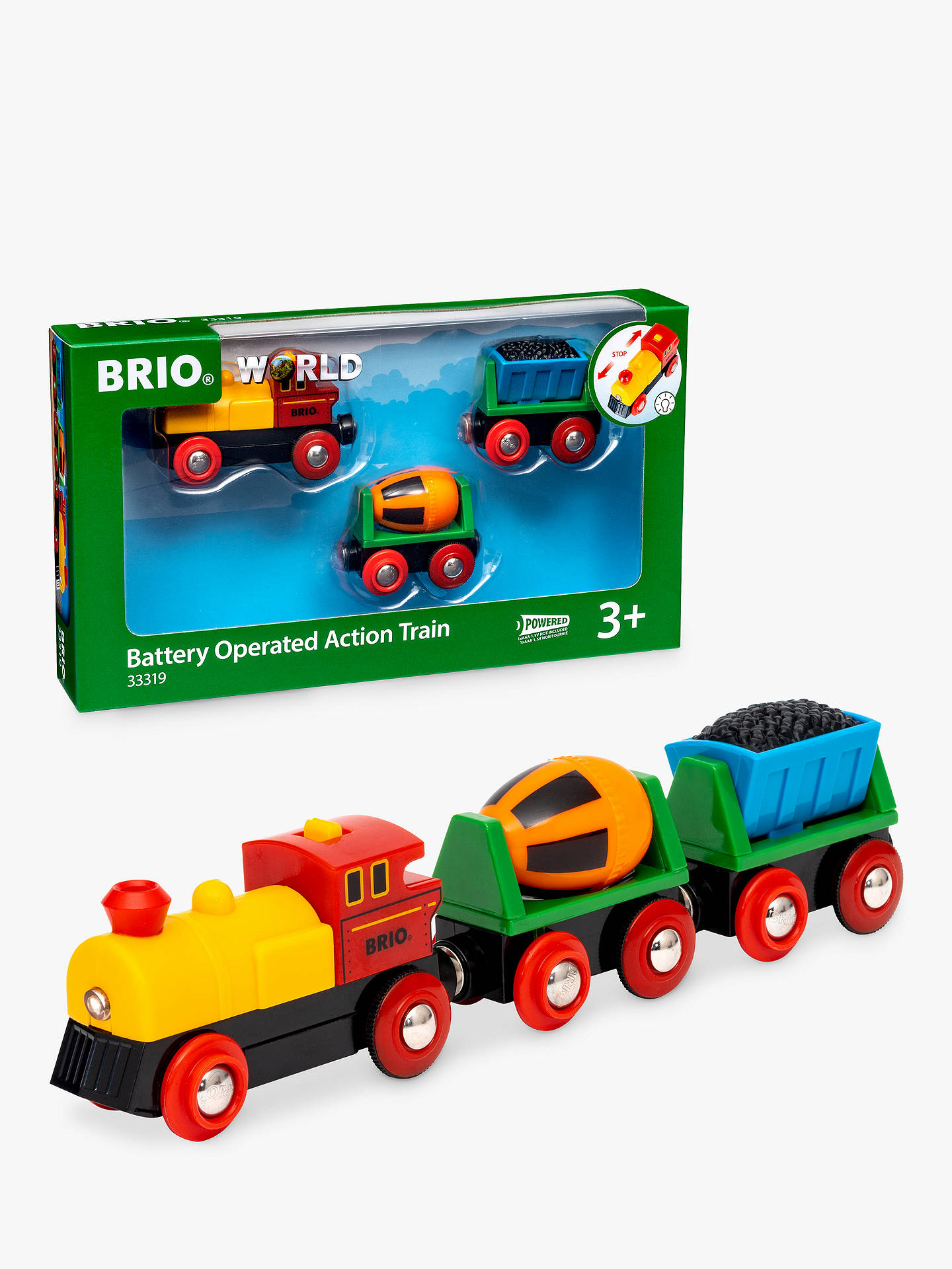 Buy BRIO World Battery Operated Action Train Online at johnlewis.com