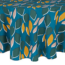 Buy John Lewis Scandi Palm Springs Round Tablecloth, Multi, Dia.180cm Online at johnlewis.com