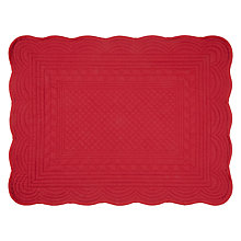 Buy John Lewis Quilted Placemats, Set of 2, Wine Online at johnlewis.com