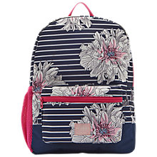 Buy Joules Peony Children's Rucksack, Blue/White/Pink Online at johnlewis.com