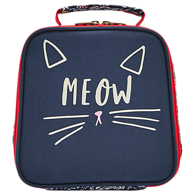 Joules Meow Children's Lunchbox, Blue