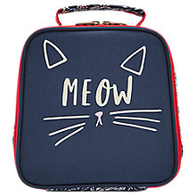 Buy Joules Meow Children's Lunchbox, Blue Online at johnlewis.com