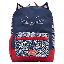 Buy Joules Meow Children's Rucksack, Blue/Red Online at johnlewis.com